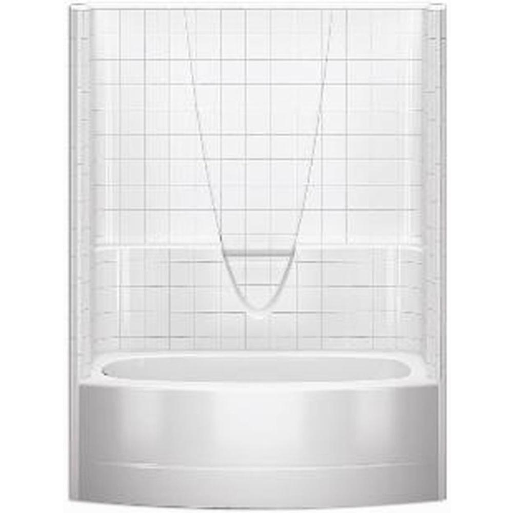 Aquatic Three Wall Alcove Whirlpool Bathtubs item 6036BSTMRWP-BO